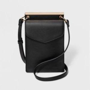 New a New Day Black Framed Mini Crossbody Bag